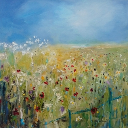 Nature Oil Art Painting title 'Scent Of Summer' by artist Libbi Gooch