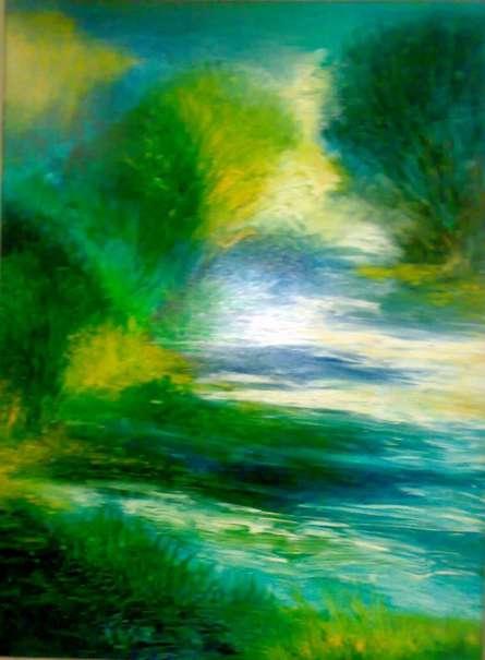 Peacock Bliss, | Painting by artist Shuchi Khanna | acrylic | Canvas