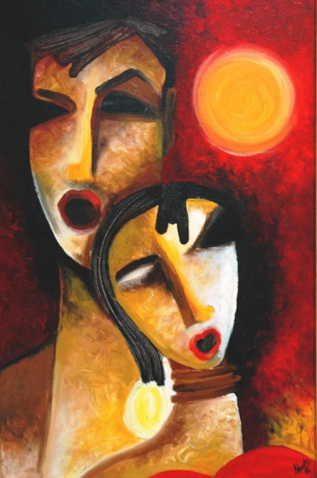 Singers | Painting by artist Shuchi Khanna | acrylic | Canvas