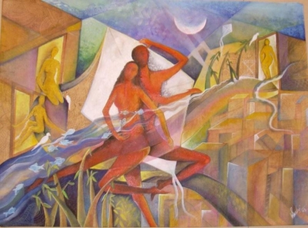 FANTASY | Painting by artist Shuchi Khanna | mixed-media | Paper
