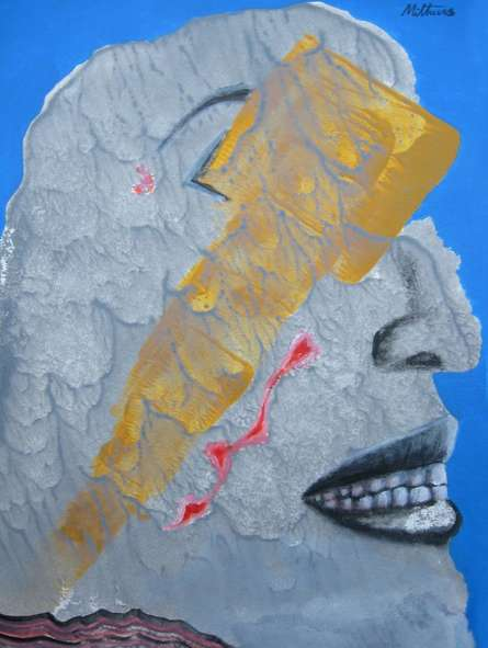 Wounded | Painting by artist Mithun Dasgupta | acrylic | Acid Free Paper