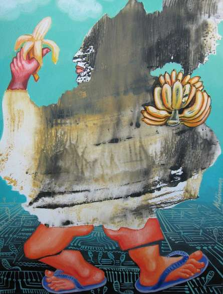 Fantasy Acrylic Art Painting title 'Healthy Walk' by artist Mithun Dasgupta