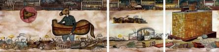contemporary Mixed-media Art Painting title 'Something Broken' by artist Digbijayee Khatua