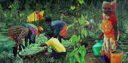 Figurative Oil Art Painting title 'Untitled 3' by artist K G Babu