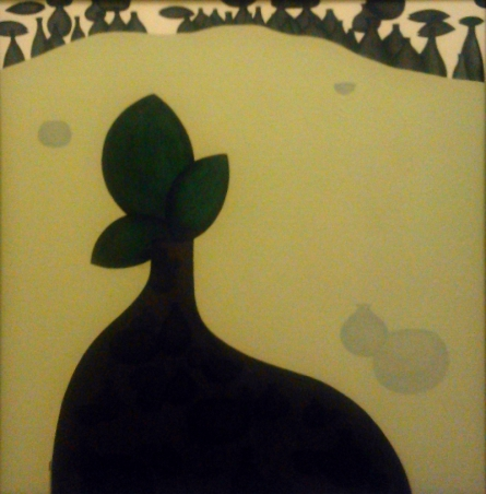 contemporary Acrylic Art Painting title 'Money Plant 1' by artist Pravin Shinde