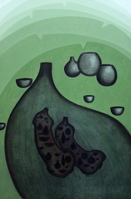 contemporary Acrylic Art Painting title 'Nativity 1' by artist Pravin Shinde