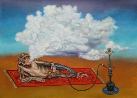 contemporary Acrylic Art Painting title 'Funkey Monkey' by artist Rajnikanta Singh