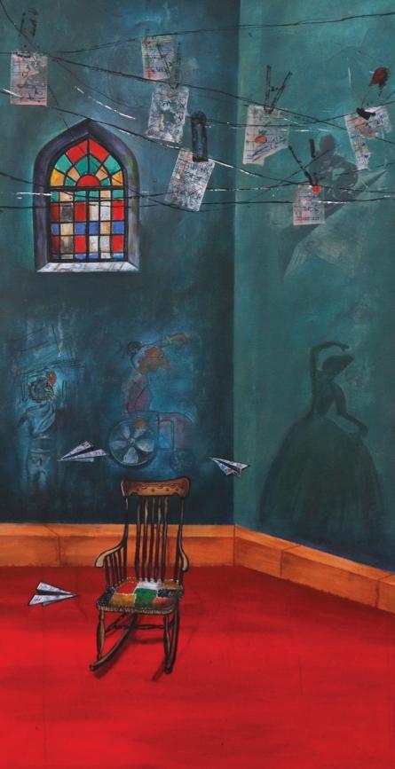Still-life Acrylic Art Painting title 'Childhood Memories' by artist Isha Bawiskar