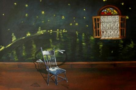 Still-life Acrylic Art Painting title 'Dream' by artist Isha Bawiskar