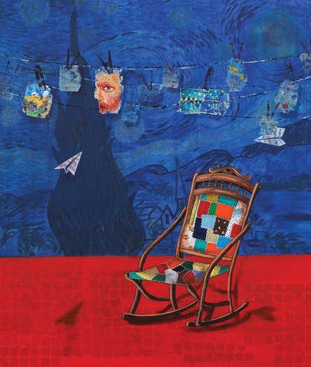 Still-life Acrylic Art Painting title 'My Ideol' by artist Isha Bawiskar