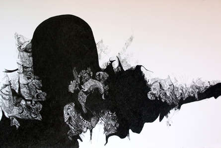 contemporary Pen Art Drawing title 'God' by artist Rachana Shah
