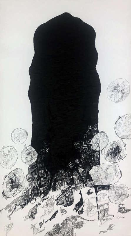 contemporary Pen Art Drawing title 'Vipassana' by artist Rachana Shah