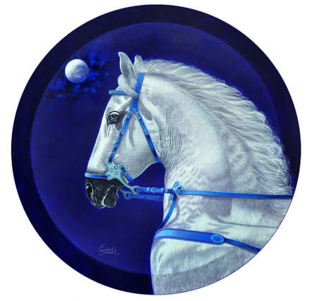 Animals Acrylic Art Painting title Dream Horse 1 by artist Sanket Sawant