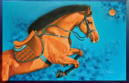 Animals Acrylic Art Painting title Unstoppable 6 by artist Sanket Sawant