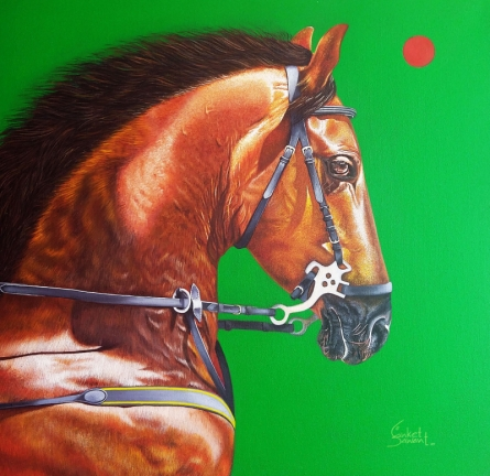 Animals Acrylic Art Painting title 'Unstoppable 7' by artist Sanket Sawant