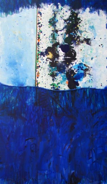 Abstract Acrylic Art Painting title 'Celebration Series 23' by artist Vidya Sagar Singh