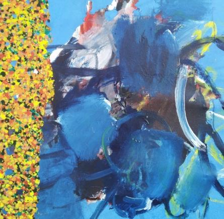 Abstract Acrylic Art Painting title 'Untitled 19' by artist Vidya Sagar Singh