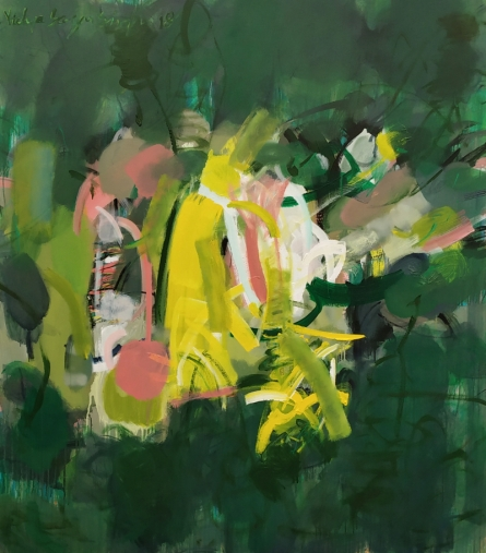 Abstract Acrylic Art Painting title 'Untitled 6' by artist Vidya Sagar Singh