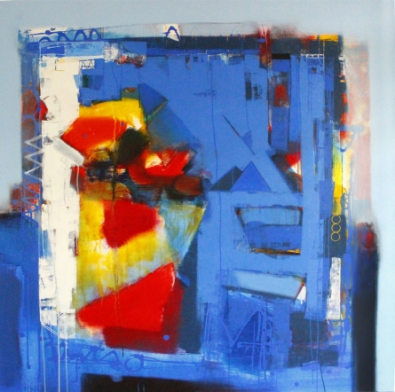 Abstract Acrylic Art Painting title 'Untitled 2' by artist Sachin Pakhale