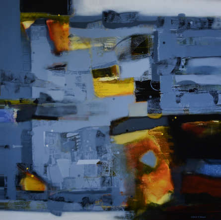 Abstract Acrylic Art Painting title 'Untitled 3' by artist Sachin Pakhale