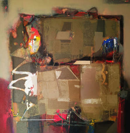 Abstract Acrylic Art Painting title 'Untitled 9' by artist Sachin Pakhale