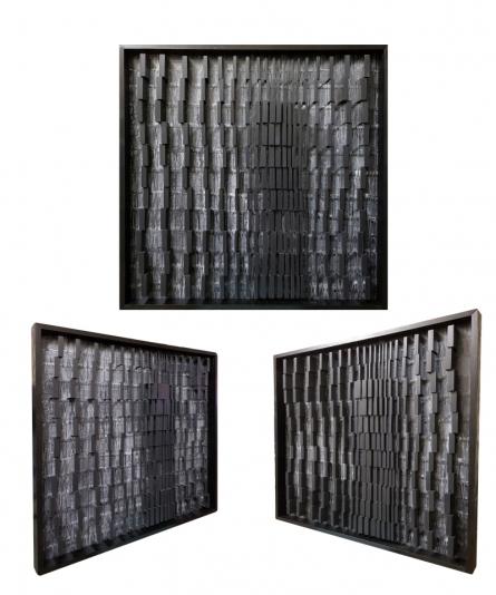 Wood Sculpture titled 'Untitled 1' by artist Tanvi Pujari