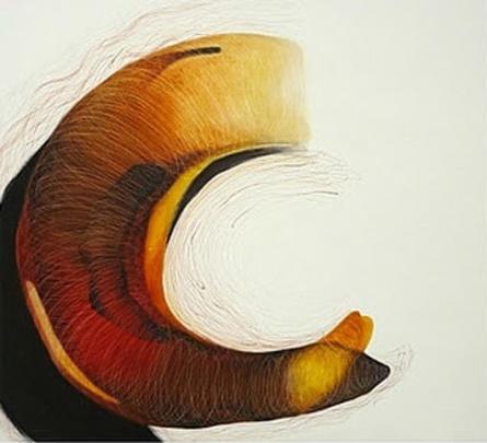 Abstract Mixed-media Art Painting title 'Untitled 2' by artist Seema Kadam