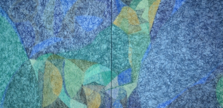 Abstract Mixed-media Art Painting title 'Untiteld 12' by artist Bhushan Bhombale