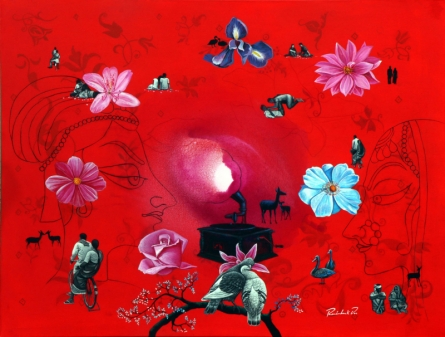 contemporary Acrylic Art Painting title 'Untitled 1' by artist Rawindra Das