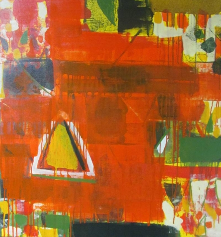 Abstract Acrylic Art Painting title 'Untitled 11' by artist Ravindra Pawar