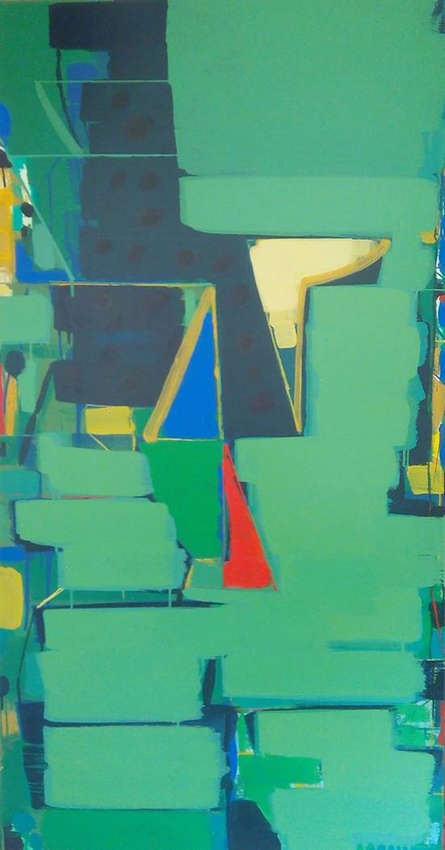 Abstract Acrylic Art Painting title 'Untitled 3' by artist Ravindra Pawar