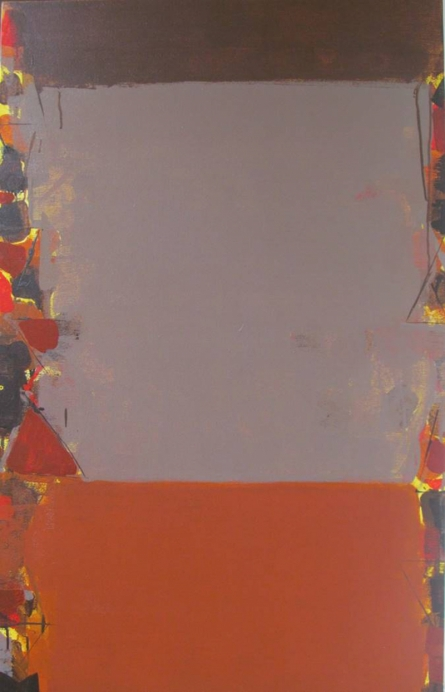 Abstract Acrylic Art Painting title 'Untitled 4' by artist Ravindra Pawar