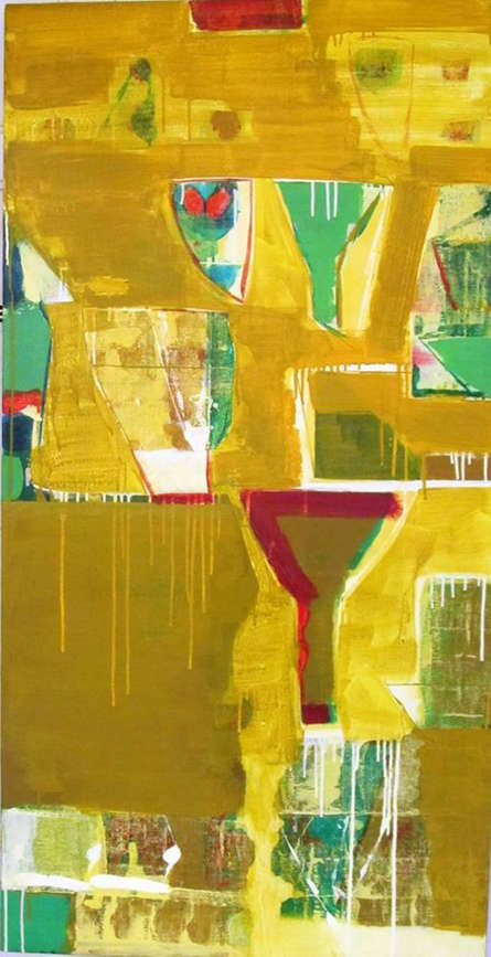 Abstract Acrylic Art Painting title 'Untitled 8' by artist Ravindra Pawar