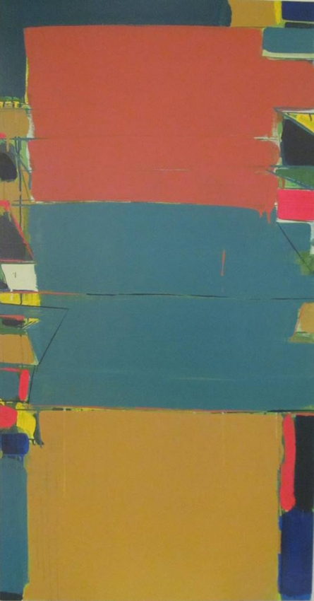 Abstract Acrylic Art Painting title 'Untitled 9' by artist Ravindra Pawar