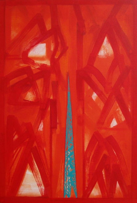 Abstract Acrylic Art Painting title 'Untitled 15' by artist Ramesh Anand