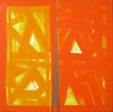 Abstract Acrylic Art Painting title 'Untitled 2' by artist Ramesh Anand
