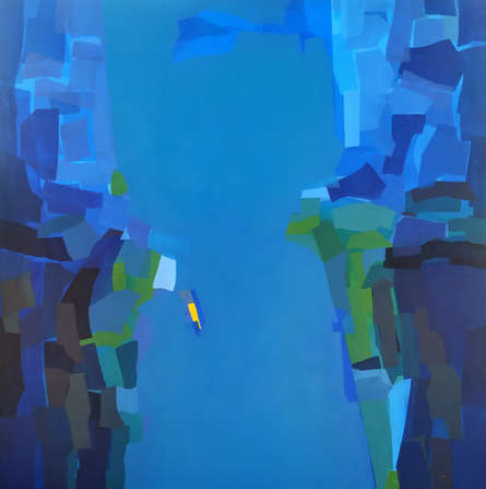 Abstract Acrylic Art Painting title Untitled 3 by artist Padmakar Santape