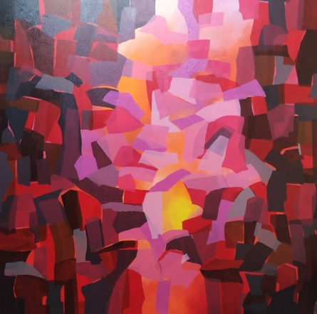 Abstract Acrylic Art Painting title Untitled 4 by artist Padmakar Santape