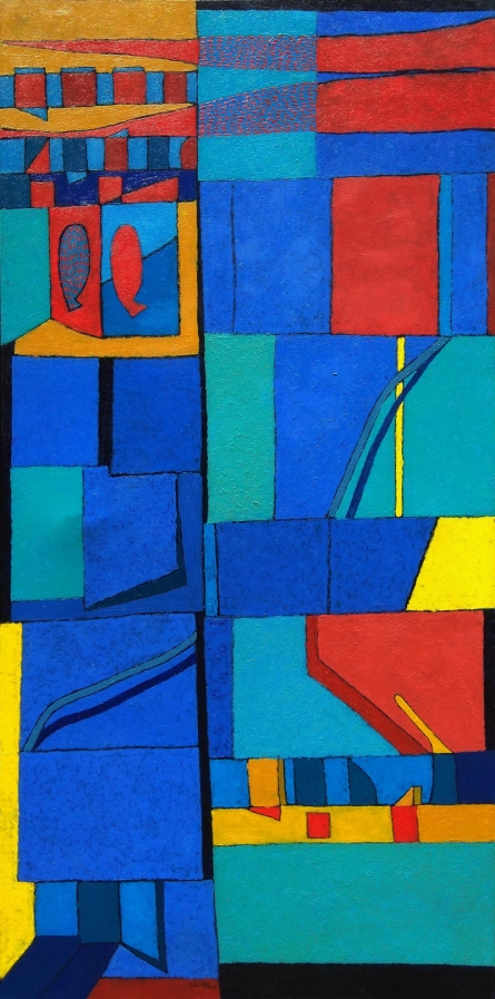 Abstract Oil Art Painting title 'Untitled 3' by artist Sunil Ningule
