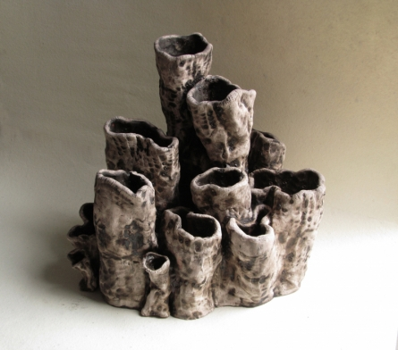 Ceramic Sculpture titled 'Emulation' by artist Owanka Bhattacharjee