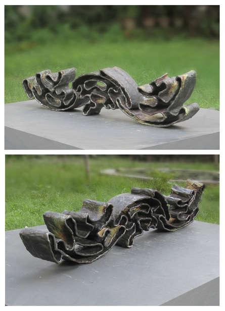 Ceramic Sculpture titled 'Wave' by artist Owanka Bhattacharjee