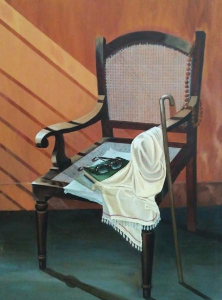 Still-life Acrylic Art Painting title 'Untitled 1' by artist Divya Chinni