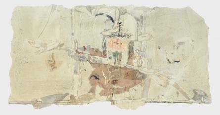 Abstract Mixed-media Art Drawing title 'Angarh 2' by artist Shahanshah Mittal