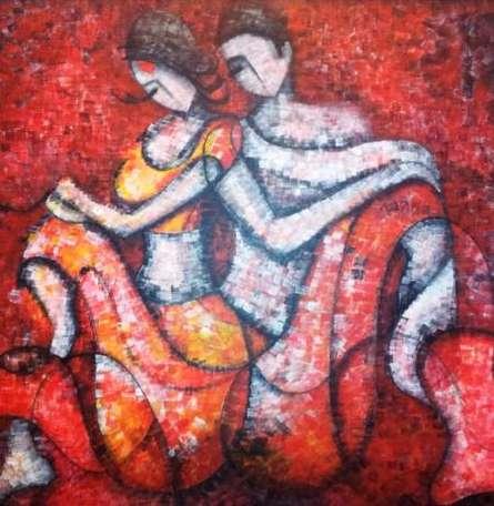 Fahrenheit | Painting by artist Sarang Singla | acrylic | Canvas