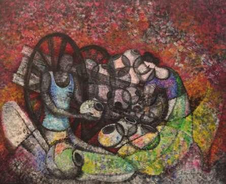 Couplet201358 X 48acrylic On Canvas | Painting by artist Sarang Singla | acrylic | Canvas