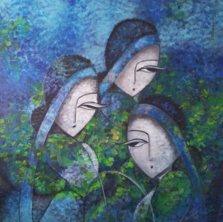 Tea tulips | Painting by artist Sarang Singla | acrylic | Canvas