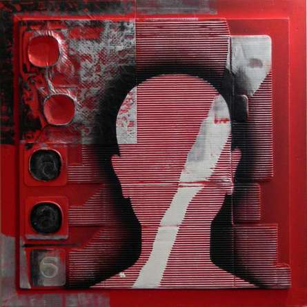 Scarlet Tides Duality Of Grey - II | Mixed_media by artist Vivek Rao | wood and acrylic