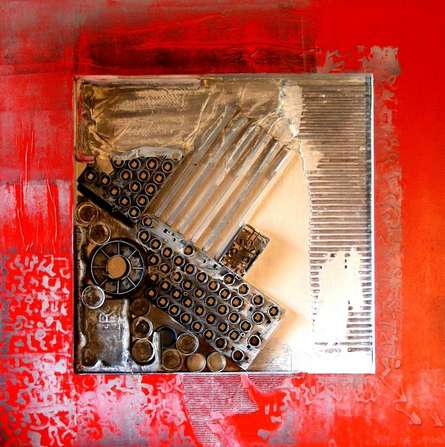 Decorative Assemblages IV | Mixed_media by artist Vivek Rao | wood