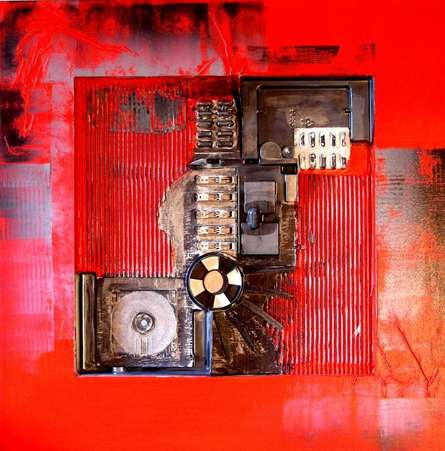 Decorative Assemblages XII | Mixed_media by artist Vivek Rao | wood