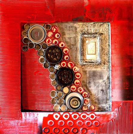 Decorative Assemblages VIII | Mixed_media by artist Vivek Rao | wood